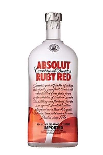 Absolut Vodka - Ruby Red, 1.75L
