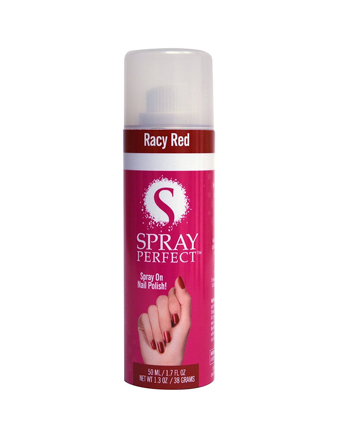 Spray Perfect Spray-On Nail Polish, 1.7 oz, Racy Red