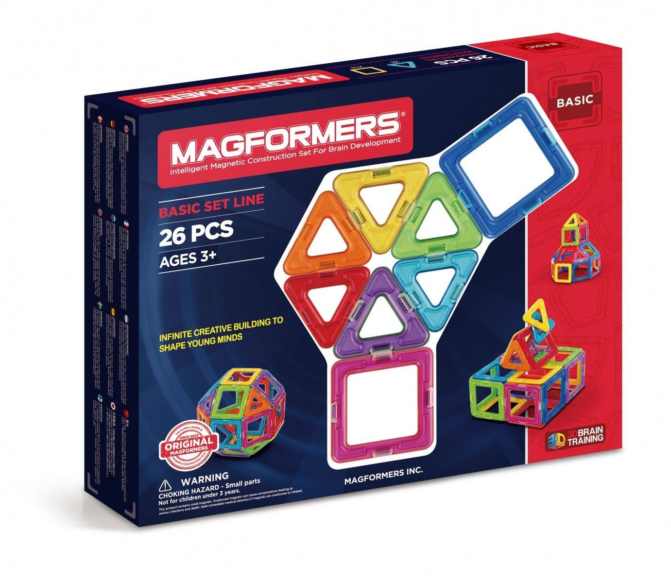 Magformers Magnetic Building Set - 26 Pieces