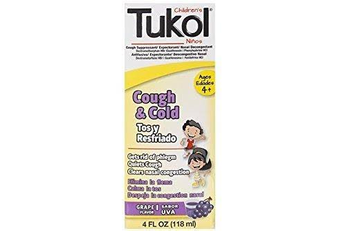 Tukol Cough & Cold Grape Flavor Liquid Cold Medicine - 4 oz