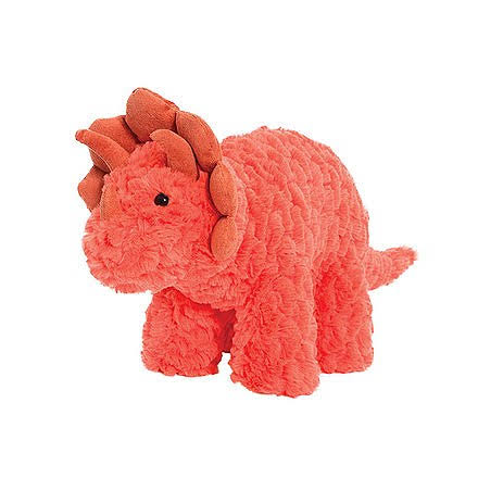 Manhattan Toy Little Jurassic Dinosaur Plush Toy - Rory, Red Orange, 15cm x 38cm