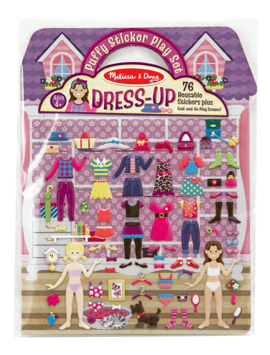 Melissa & Doug Reusable Puffy Stickers Dress-Up