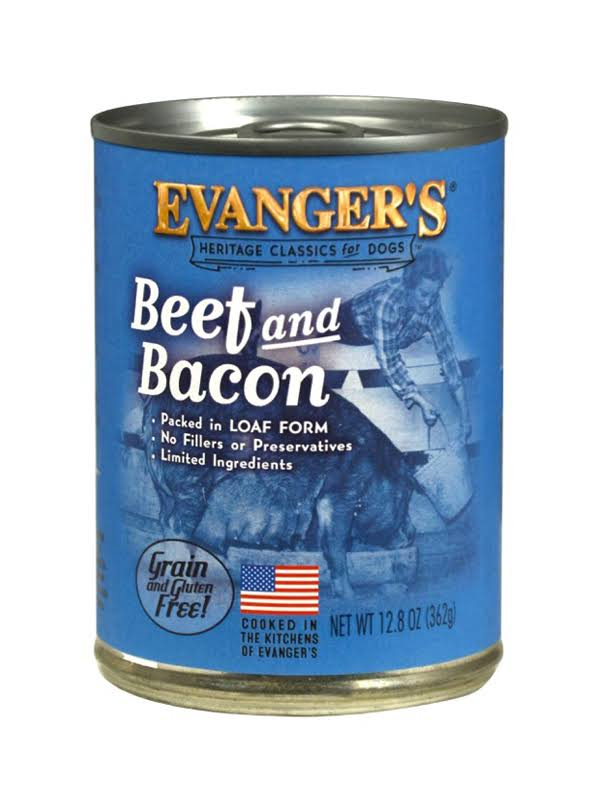Evanger's Dog Food - Beef & Bacon, 369g