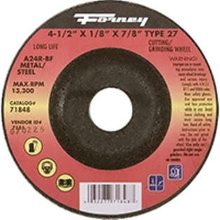 "Forney Industries 71848 Metal Grinding Wheel - Type 27, 4.5"" X 0.12"""