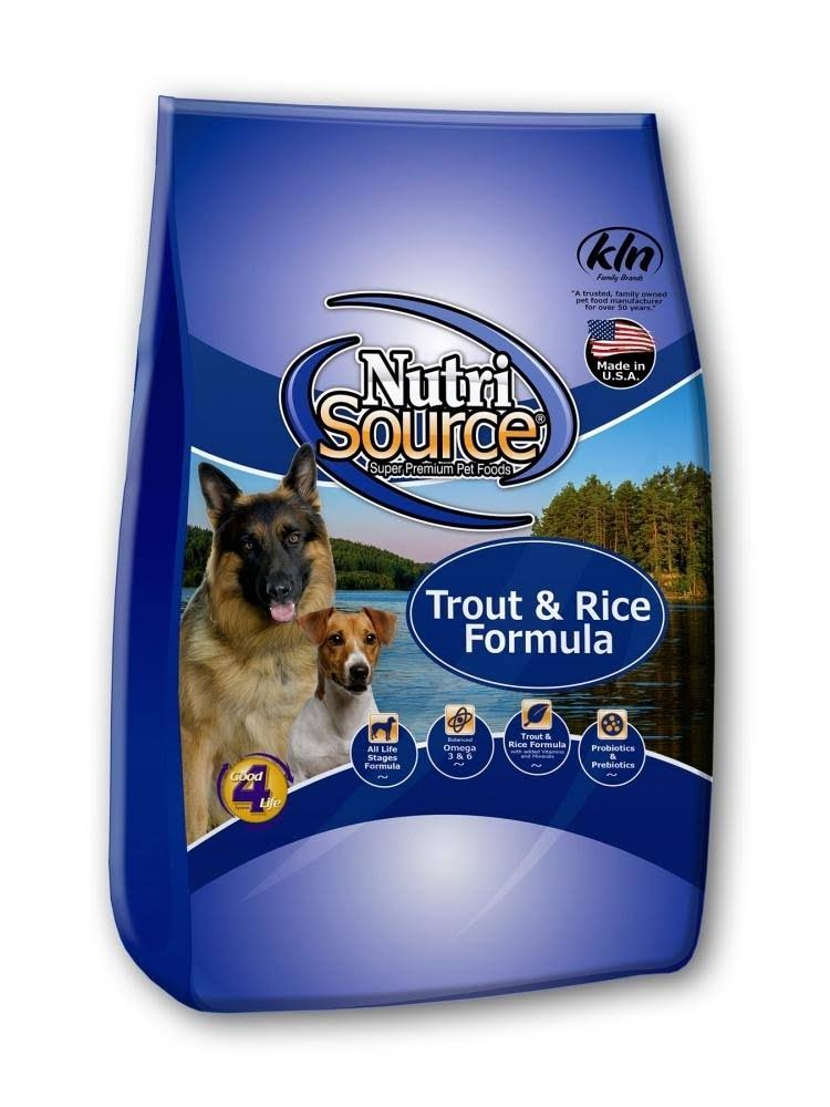 NutriSource Trout & Brown Rice Dry Dog Food 30 lbs