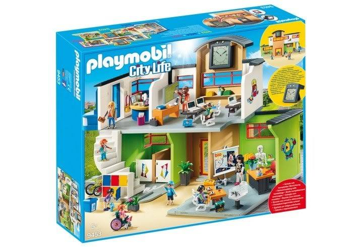 Playmobil Furnished School Building Toyset - Multicolor