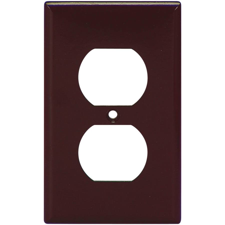 Cooper Wiring Devices Duplex Outlet Wall Plate - Brown