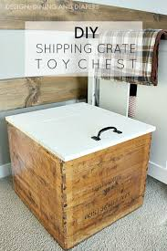 How To Make A Wooden Toy Chest by Diy Toy Chest With Lid From Vintage Shipping Crate Taryn Whiteaker