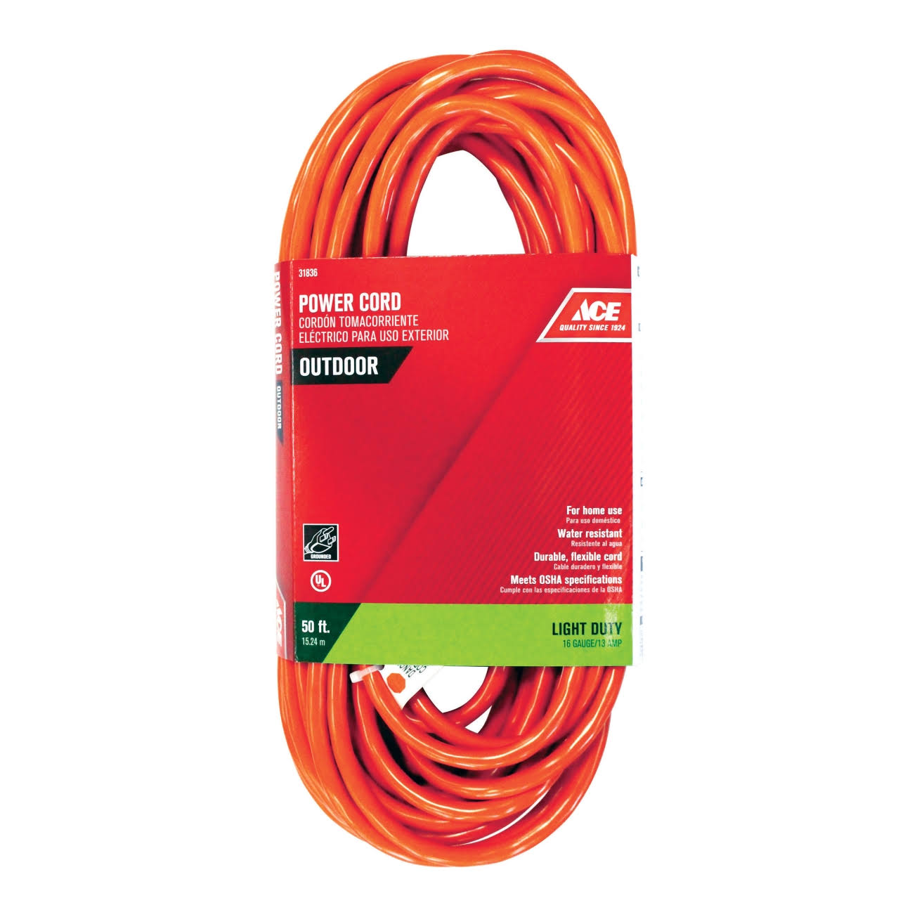 Ace Outdoor Power Extension Cord - 50'