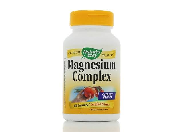 Nature's Way Magnesium Complex Dietary Supplement - 100 Capsules, Citrate Blend