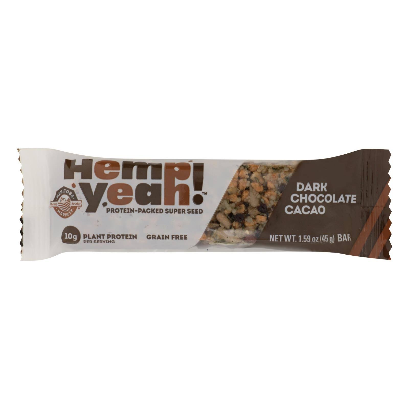Hemp Yeah Bar, Dark Chocolate Cacao - 1.59 oz