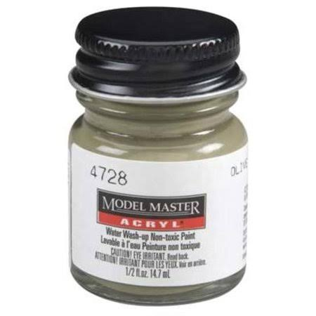 Testors Model Master Acrylic Paint - Olive Drab, 1/2oz