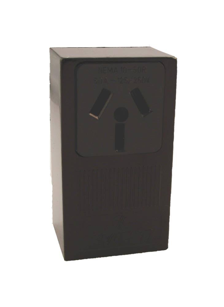 Leviton MFG B01-05050-000 Receptacle - 10-50R, 50A, Black