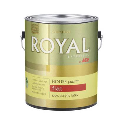 Ace Acrylic House Ultra Base Exterior Flat Paint - 1 Gallon, White