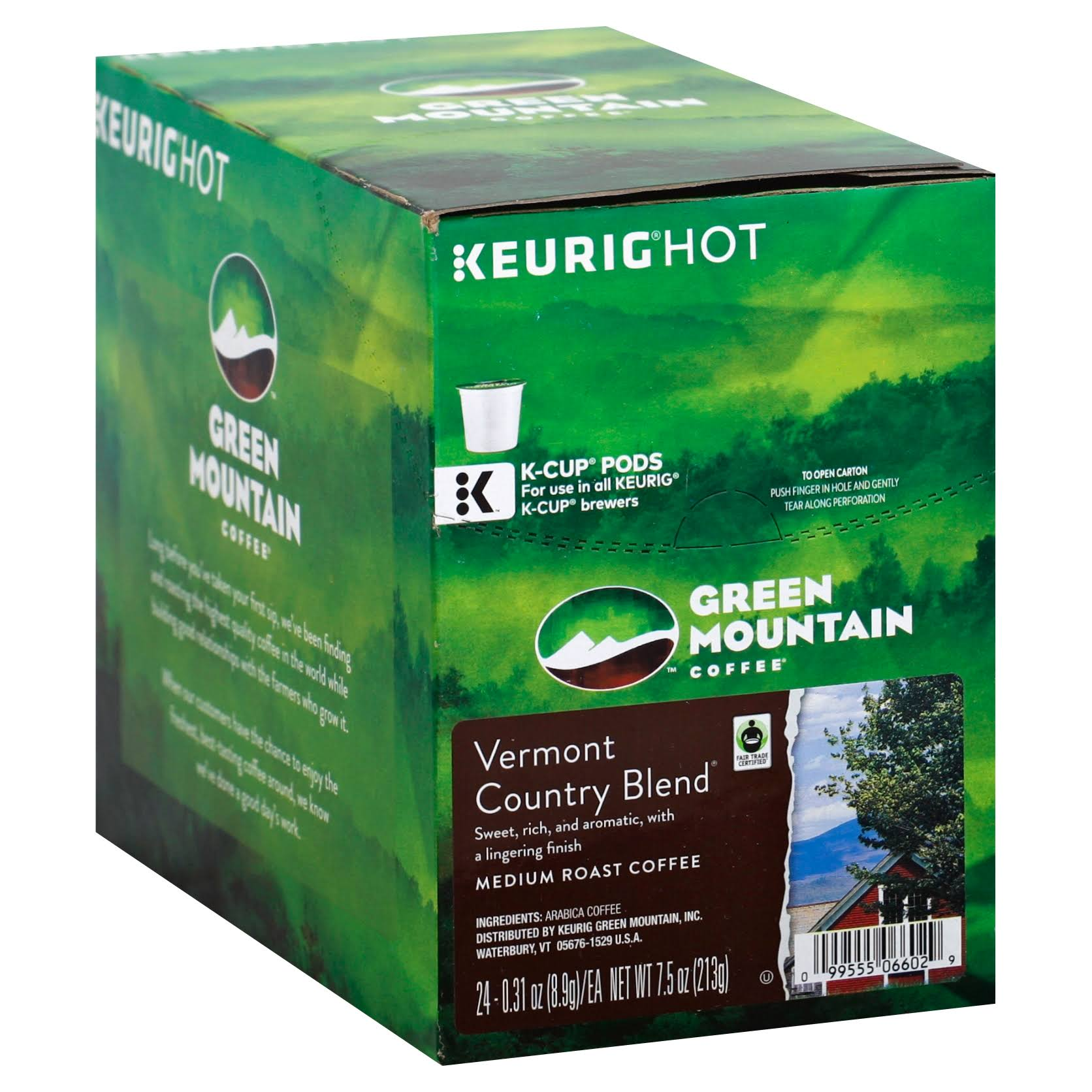 Green Mountain GMT6602 Coffee K-cups - Vermont Country Blend, 24ct