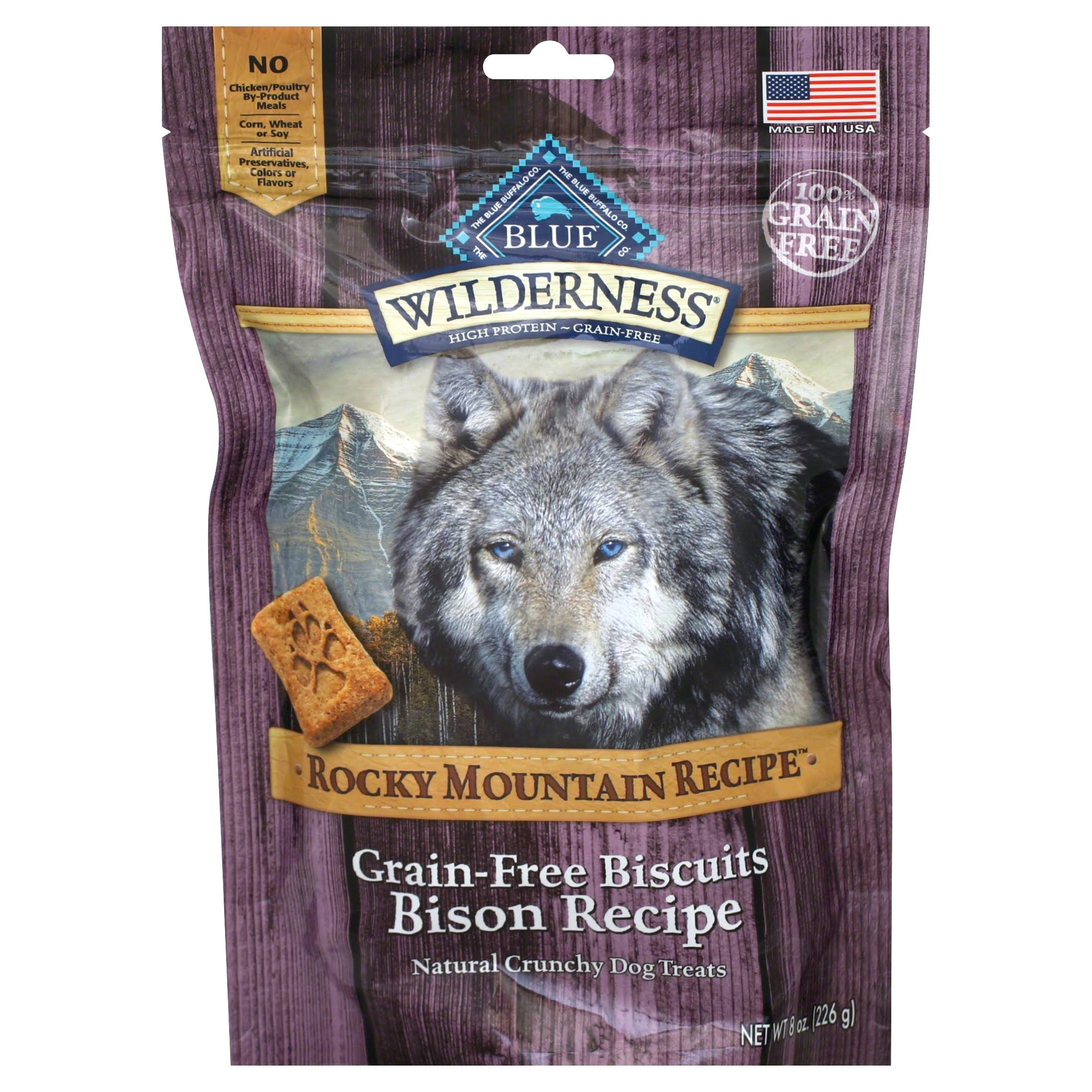 Blue Buffalo Wilderness Rocky Mountain Recipe Grain Bison Dog Biscuits - 8oz