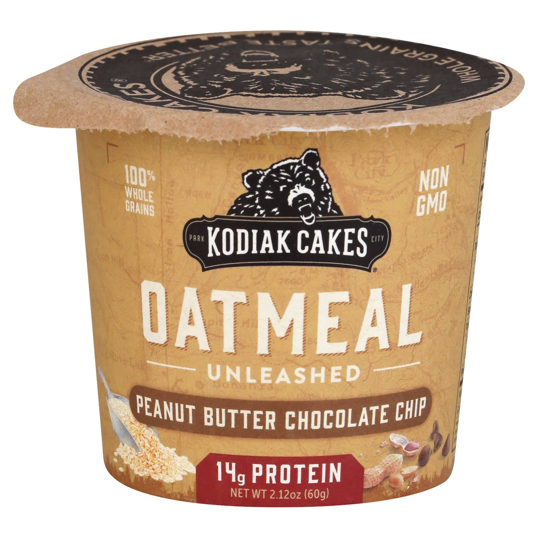 Kodiak Cakes Oatmeal Unleashed, Peanut Butter Chocolate Chip - 2.12 oz