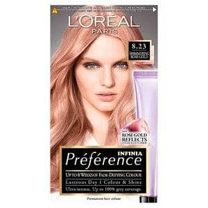 Preference Infinia Permanent Hair Dye - Rose Gold Light