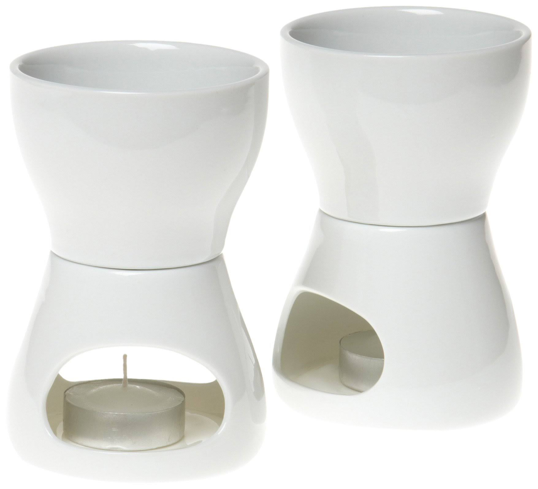 Norpro 213 Porcelain Butter Warmer - White, 2 Pieces