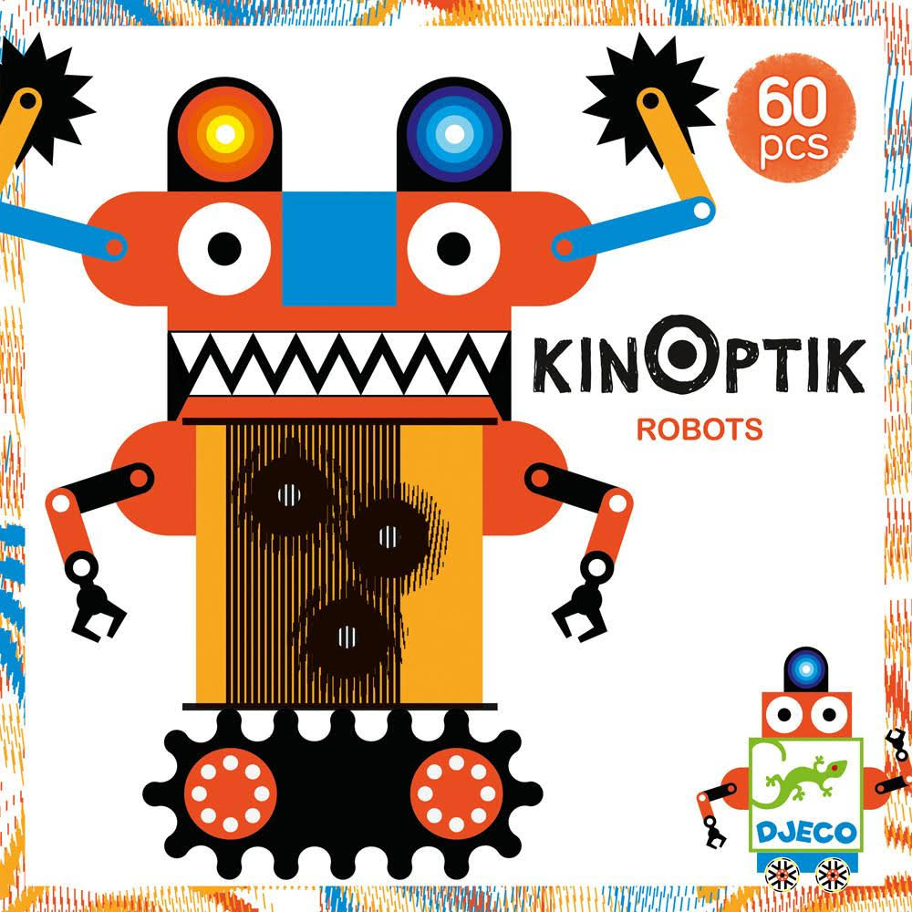 Djeco Kinoptik Robots Craft Kit - 60pcs