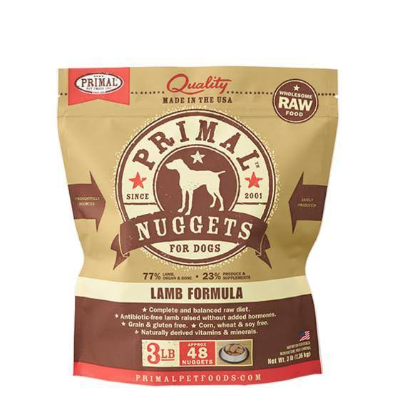 Primal Formula Dog Food - Lamb, 3lbs