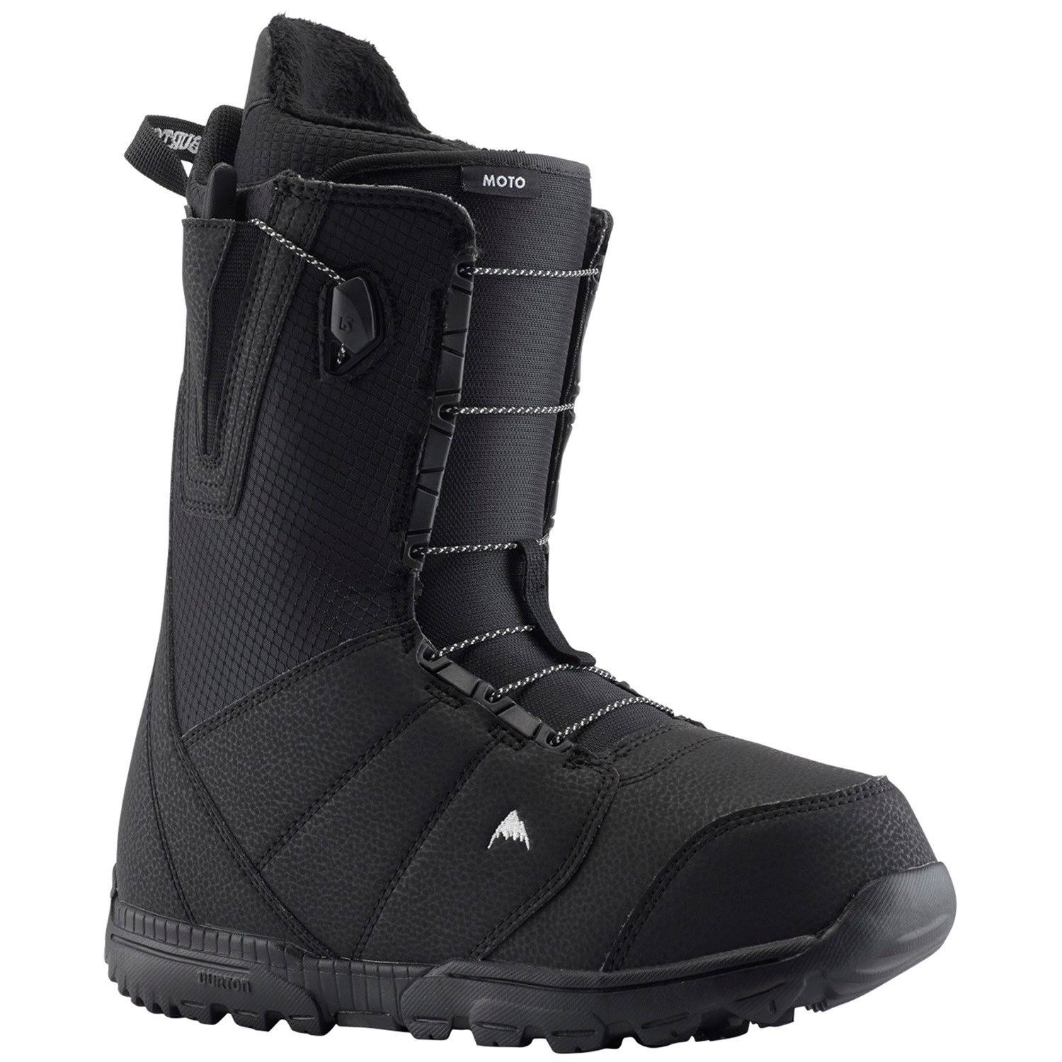 Burton Men's Moto Snowboard Boot, Black, 8.5