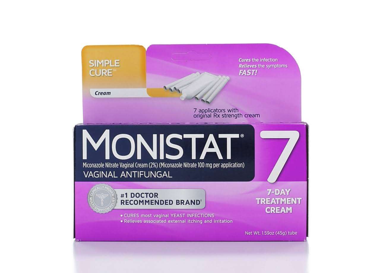 Monistat 7 Vaginal Antifungal Cream with Disposable Applicators - 1.59oz