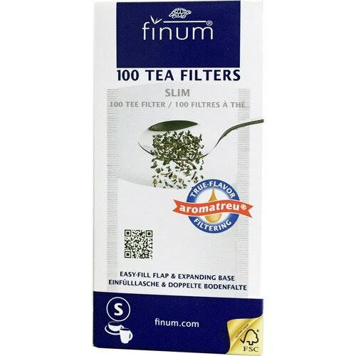 Finum Tea Filters - 100 Tea Filters, Slim