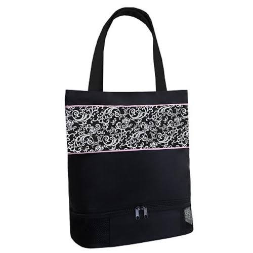 Sassi Design Girls Damask Print Shoe Compartment Dance Tote Bag