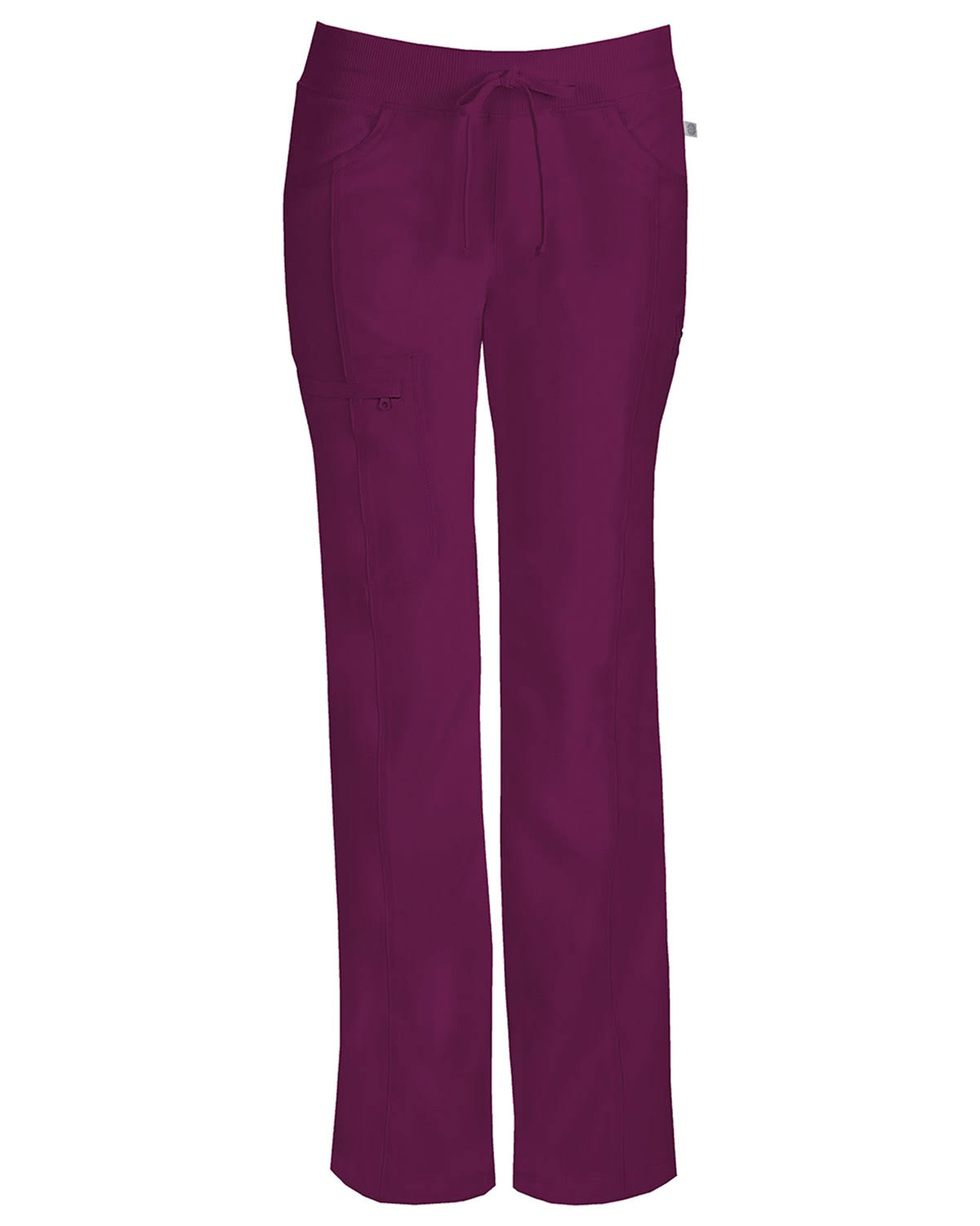 Cherokee Infinity Low Rise Straight Leg Drawstring Pant - Wine, XX-Large