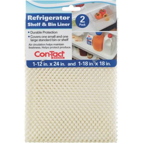 "ConTact Refrigerator Non Adhesive Shelf and Bin Liner - 12"" x 24""/18"" x 18"", 2pk"