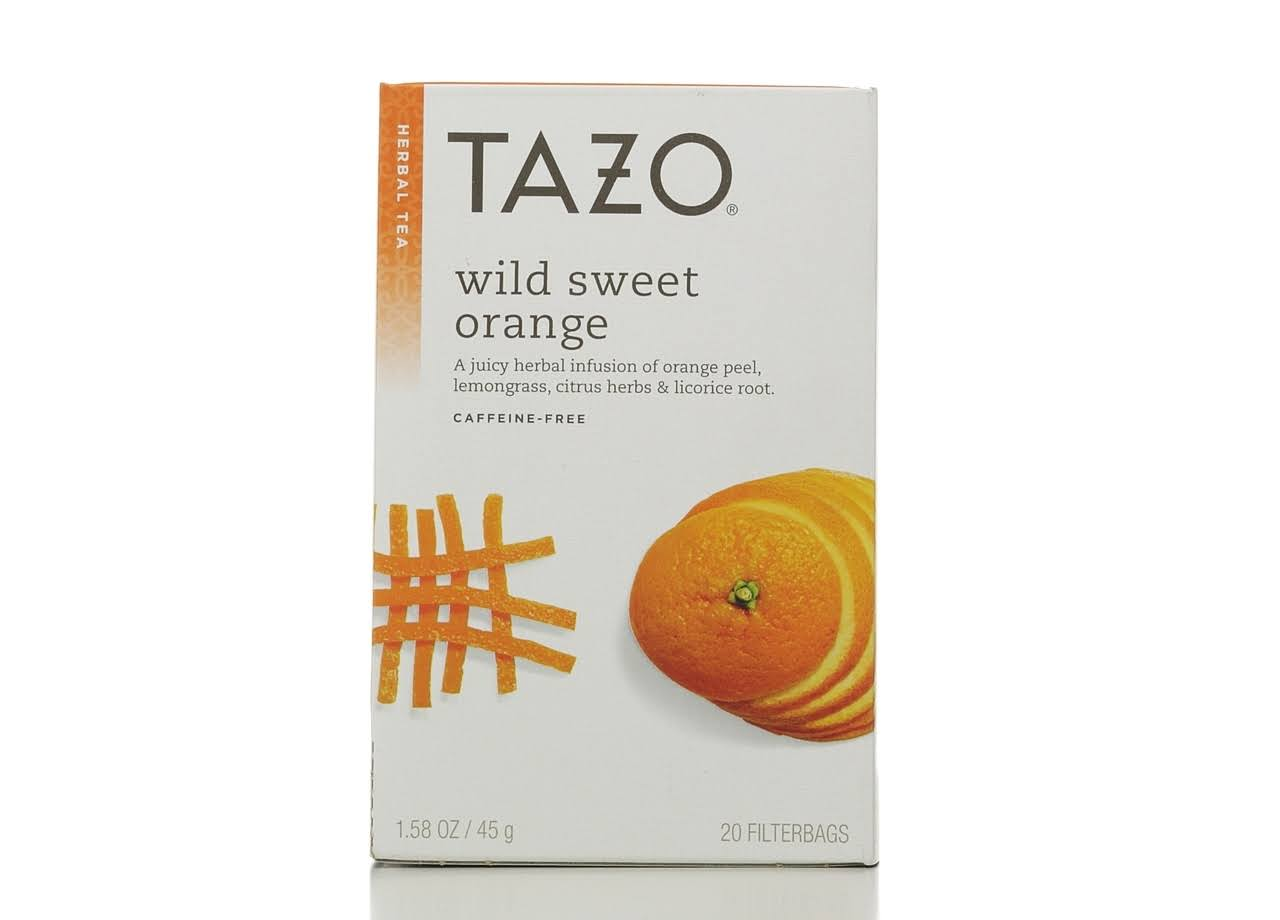 Tazo Wild Sweet Orange Herbal Tea - 1.58oz, x20