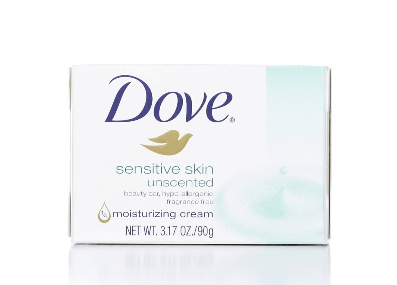 Dove Beauty Bar Sensitive Skin - Unscented, 89.3g