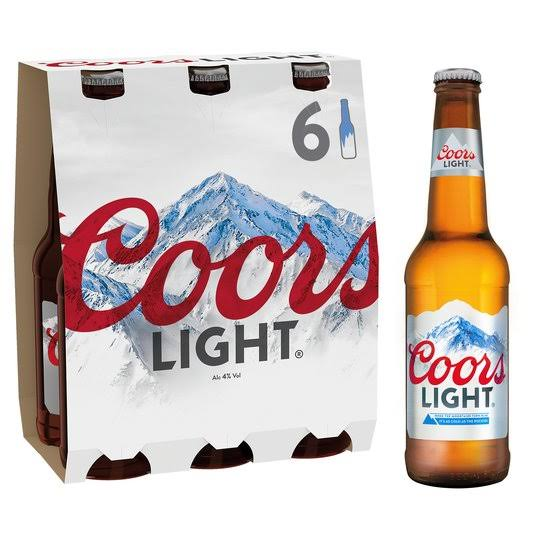Coors Light Lager - 6 Bottles, 1980ml