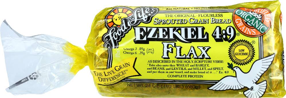 Food For Life Ezekiel 4:9 Bread, Sprouted Grain, Flax - 24 oz