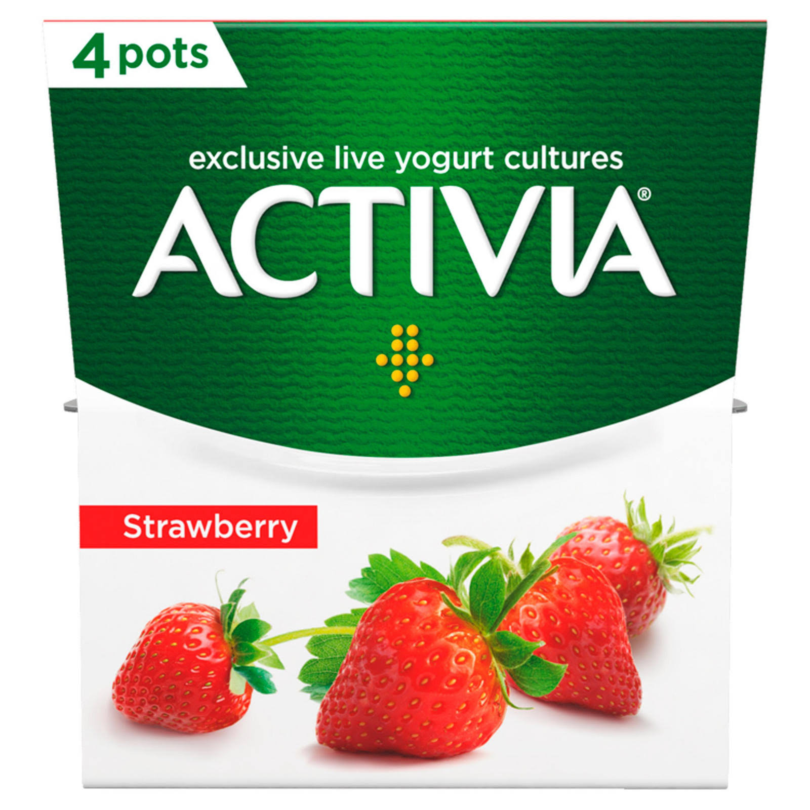 Activia Strawberry Yogurt - 4ct