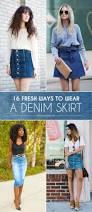 16 fresh ways to wear a denim skirt more com