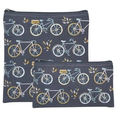 Now Designs Baby Snack Container Gray & Blue Bicycle Snack Bag Set One-Size