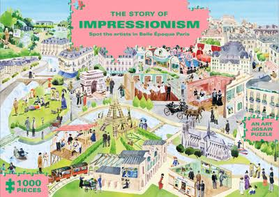 The Story of Impressionism (1000-Piece Art History Jigsaw Puzzle): Spot the Artists in Belle Époque Paris