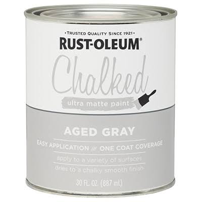 Rust-Oleum Ultra Matte Interior Chalked Paint - Aged Gray, 30oz
