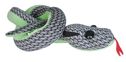 Wild Republic Knotted Grey Snake Stuffed Animal - 110""