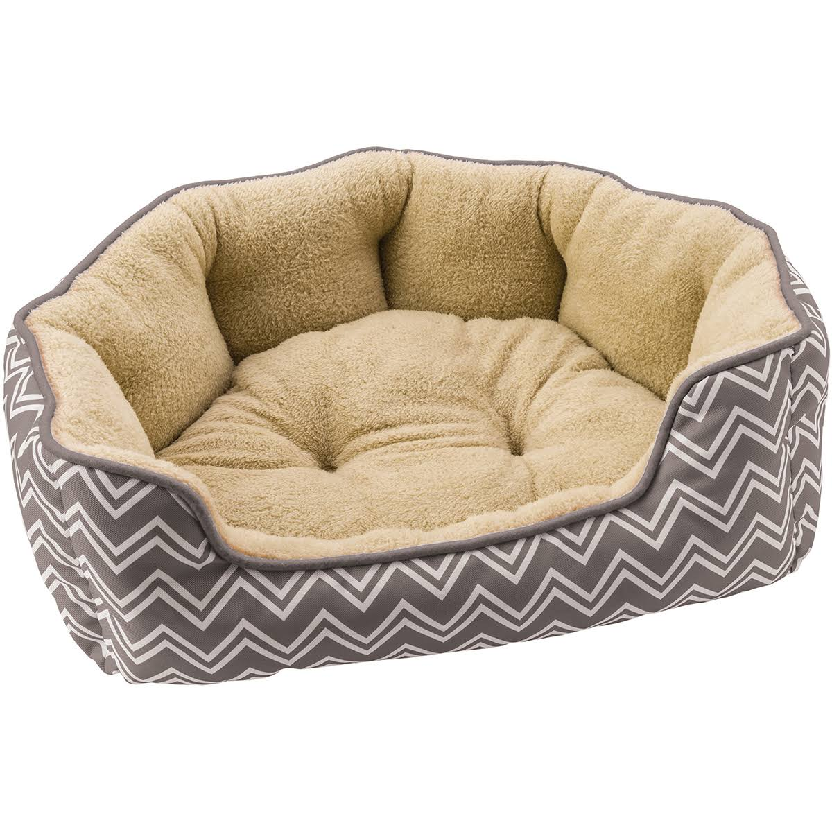 Sleep Zone Cozy Pet Bed - Large, Gray