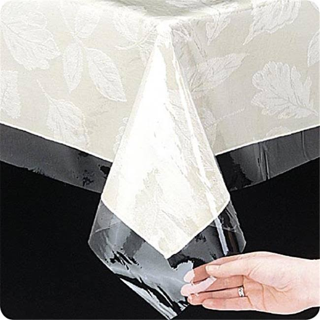 Carnation Home Fashions Oblong Vinyl Tablecloth Protector