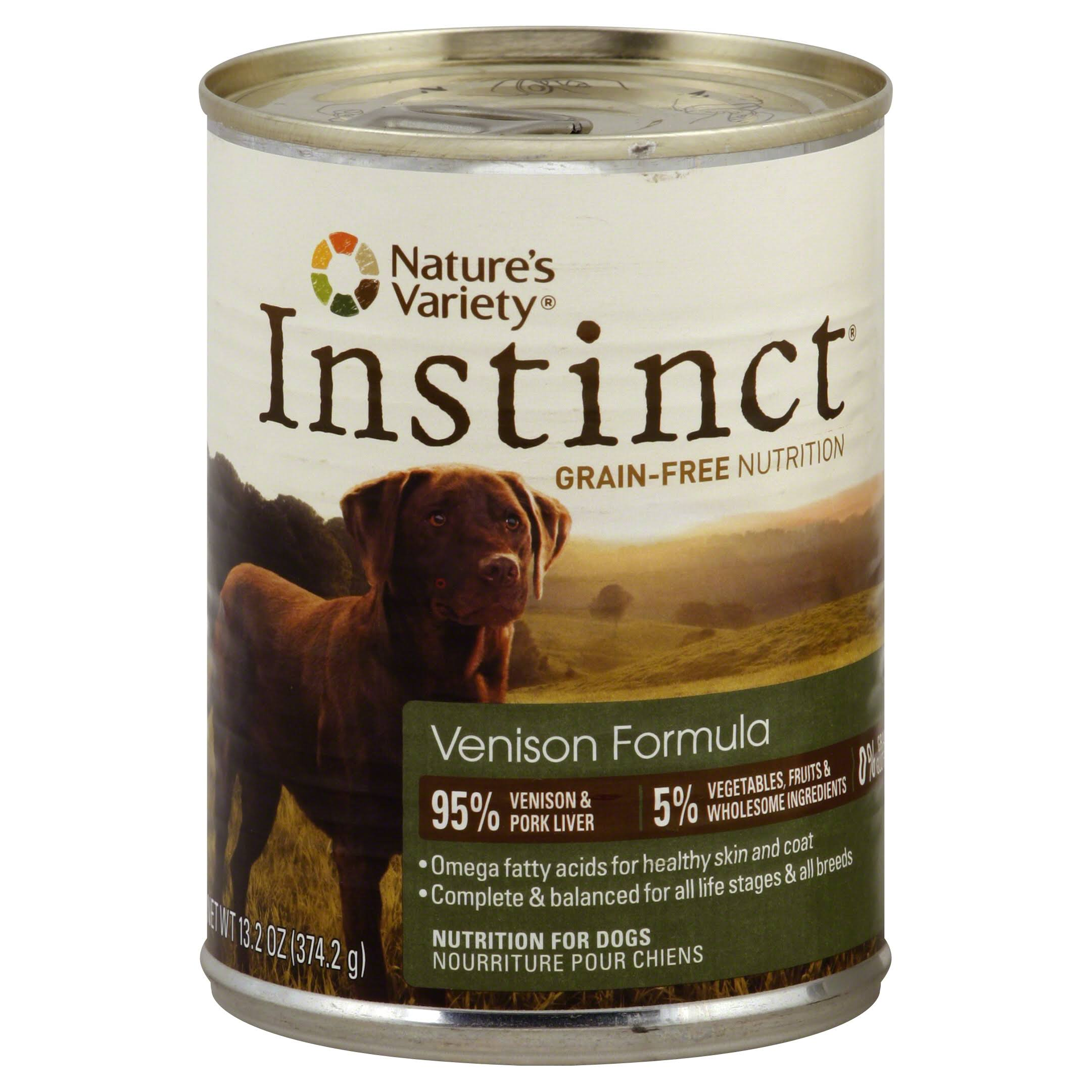 Nature's Variety Instinct Dog Food - Venison Formula