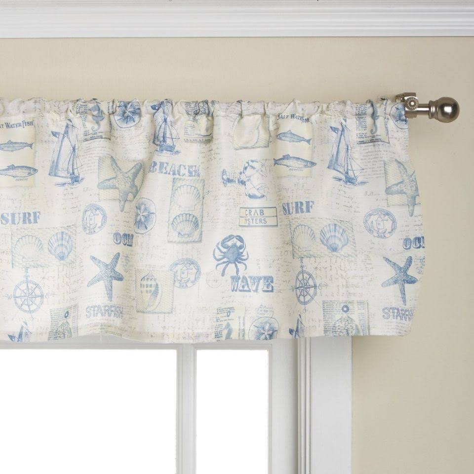 Lorraine Home Fashions by The Sea Valance 60 12-Inch