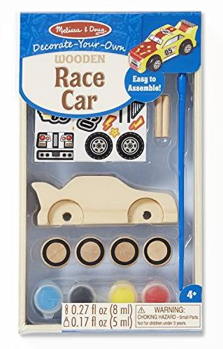 Melissa & Doug Decorate Your Own Race Car Kit
