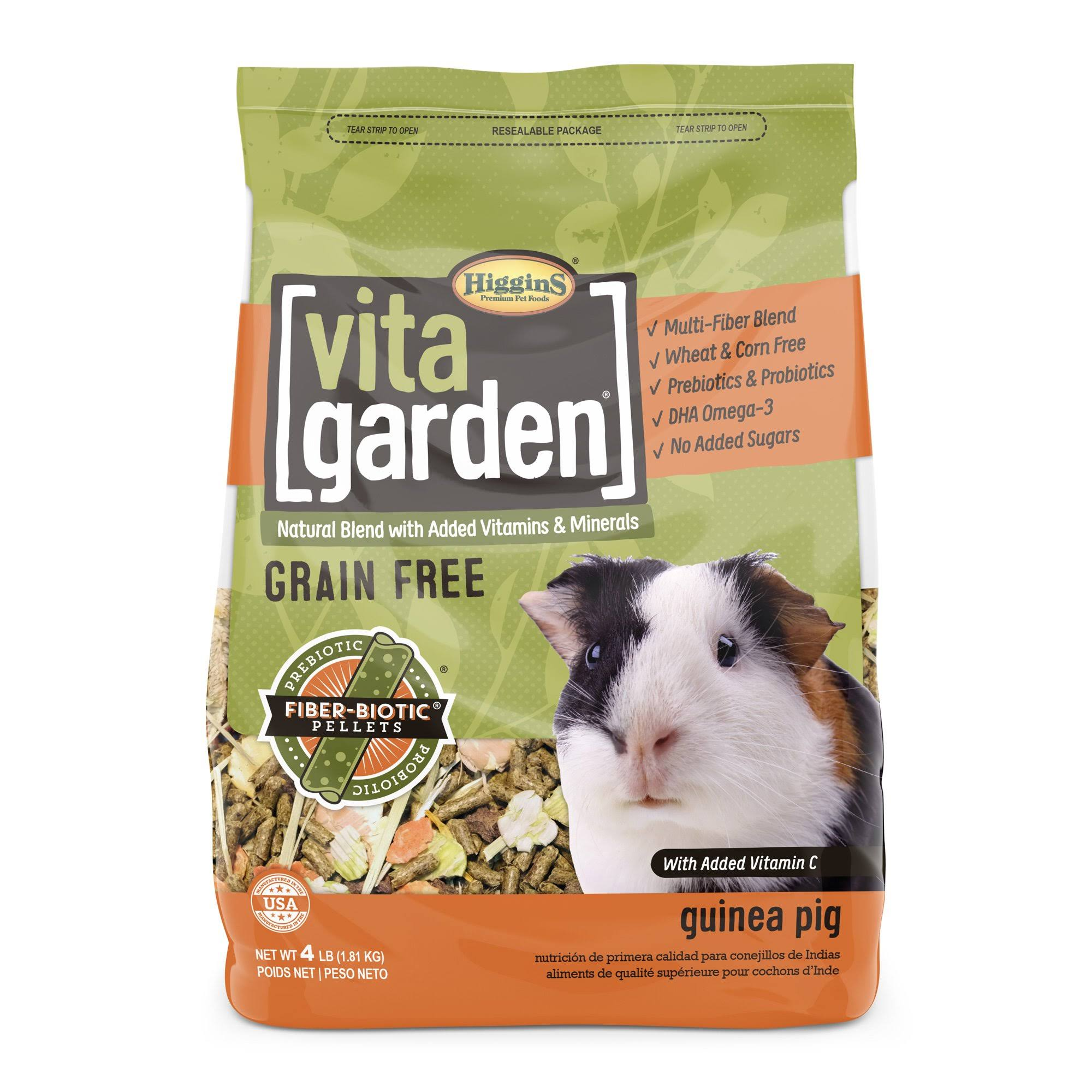 Higgins Vita Garden Guinea Pig Small Animal Food - 4lb