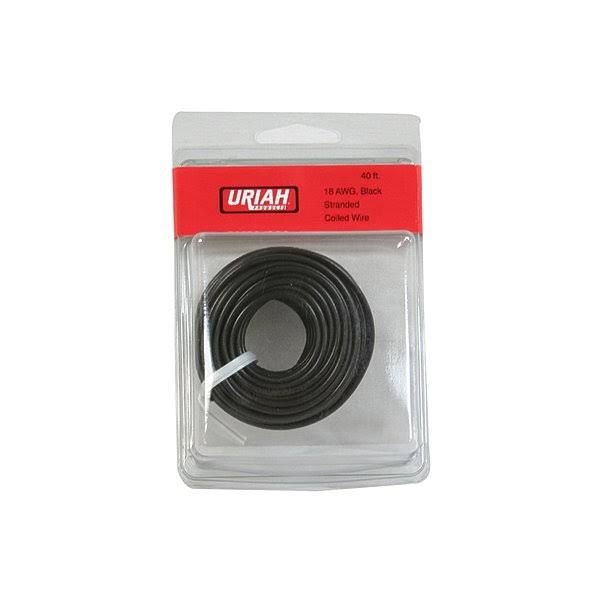 Uriah Products UA501870 Primary Insulation Automotive Wire - 40', 18 AWG, Black