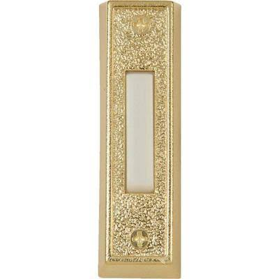 "IQ America Dp-1109a Wired Lighted Doorbell Push Button - Plastic Brass, 4"" x 2"""