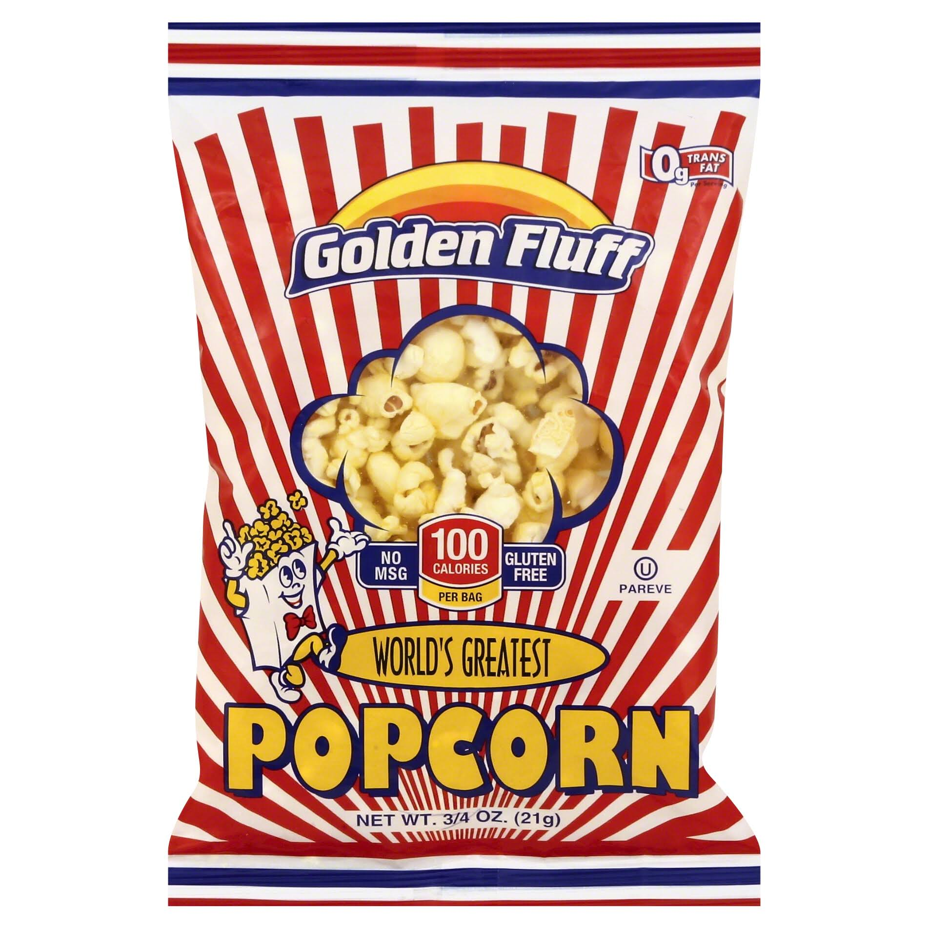 Golden Fluff Pop Corn - Small, 21g